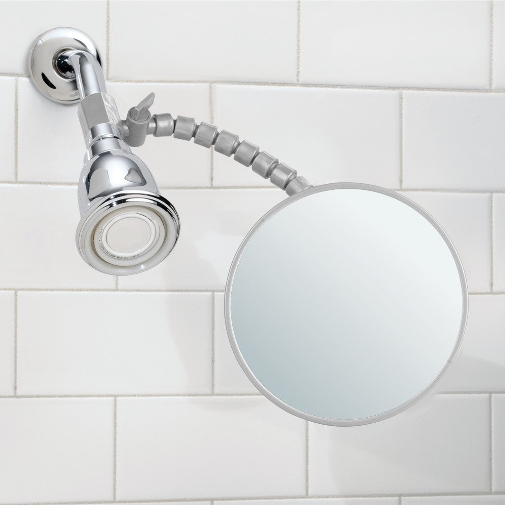 Amazon.com: InterDesign Fog-Free Shower Shaving Mirror with Flexible ...