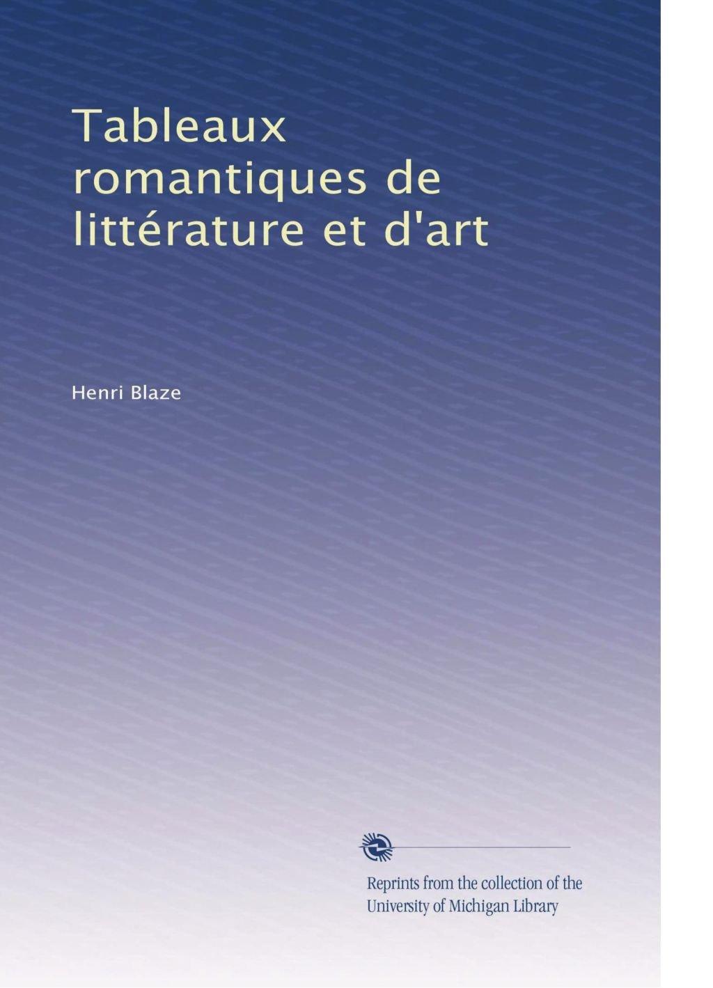 Read Online Tableaux romantiques de littérature et d'art (French Edition) pdf epub