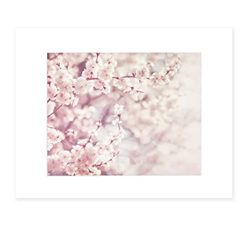 Amazon Com Pink Wall Art Blossom Flower Print Floral Wall Decor Botanical Flower Picture 8x10 Matted Photographic Print Fits 11x14 Frame Dreamy Blossom Handmade