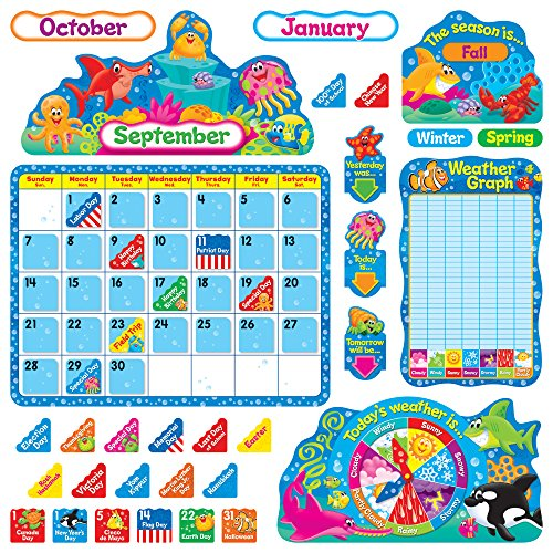 Trend Enterprises Sea Buddies Calendar Bulletin Board Set (TEP8306)]()