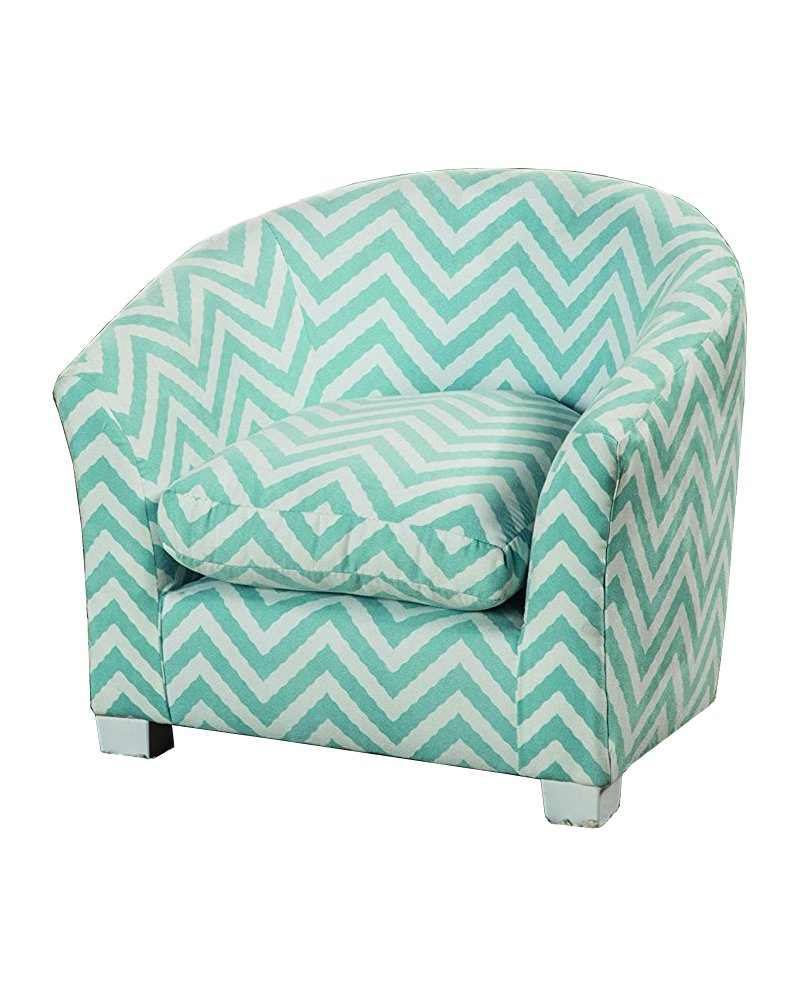 Coaster 405026 Home Furnishings Kid's Wing Back Chair, Blue/White