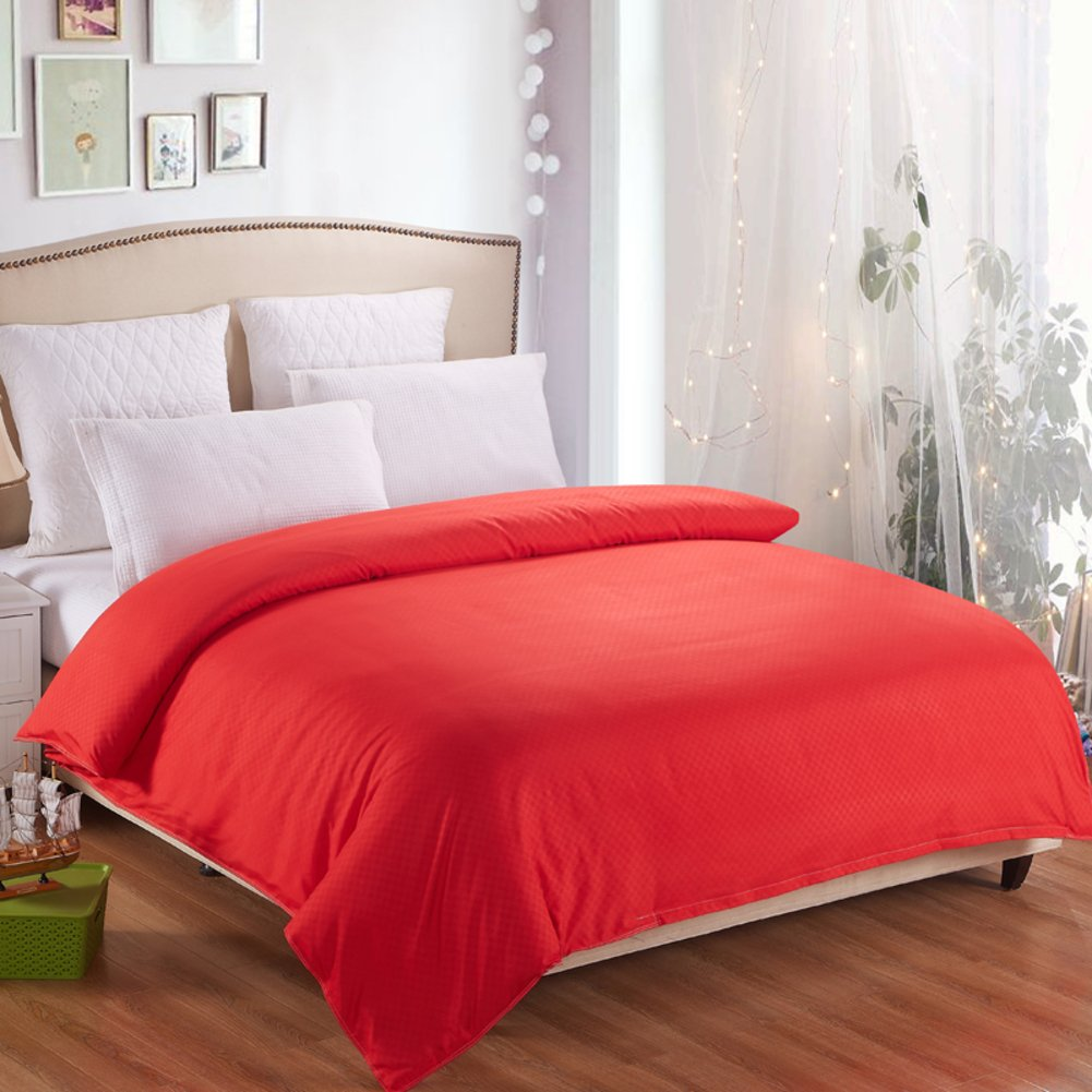 Quilt cover single Two-person solid color College dormitory Single cover-B 200x230cm(79x91inch)