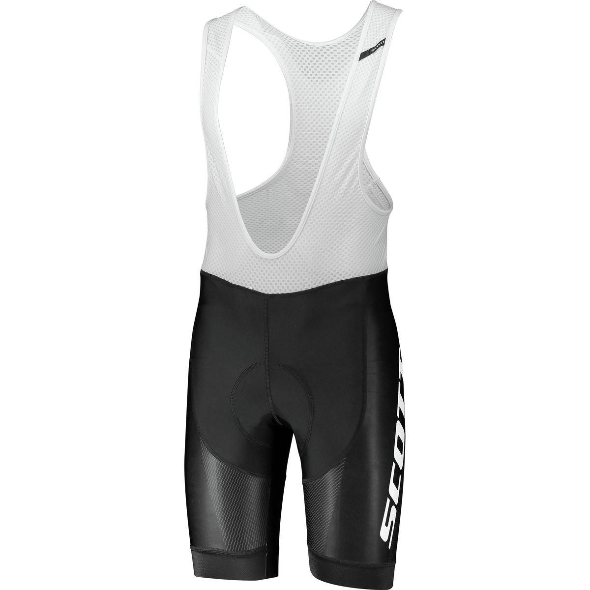 スコットRC Pro plus3 Bib Short – Men 's Medium ブラック/ホワイト B07CFQJS2P
