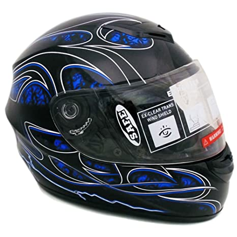 Amazon.com: Casco integral para motocicleta DOT Street Legal ...