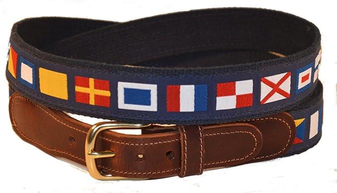 Preston piel código de banderas náuticas cinturón azul - Azul ...