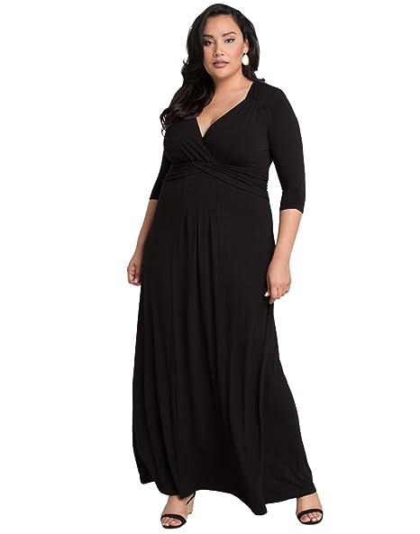 Kiyonna Women\'s Plus Size Desert Rain Maxi Dress 0X Black ...