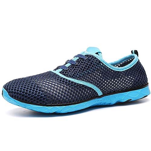 VILOCY Hombres Respirable Malla Agua Zapatos Ponerse Rápido El Secado Navegar Calcetines Zapatillas: Amazon.es: Zapatos y complementos