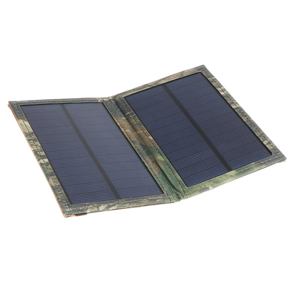 Baoblaze New Foldable Solar Panel 3W Light Battery Phone Charger Compatible with iphone Samsung Universial Mobiles Phones
