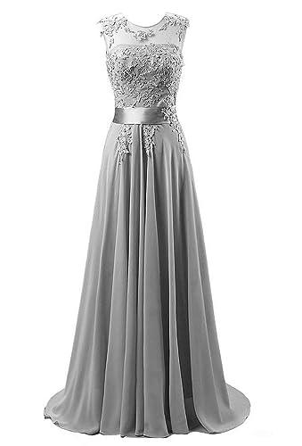 Edaier Women's Beaded Chiffon Evening Dresses