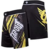 TapouT 4 Way Stretch Performance Fight Shorts (Yellow)