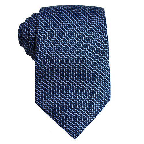 The Men's Store at Bloomingdale's Men's Chevron Print Silk Necktie; Navy - Stores Mall Marketplace At