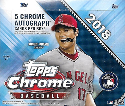 2018 Topps Chrome MLB Baseball JUMBO box (12 pk, incl. FIVE Autograph ()