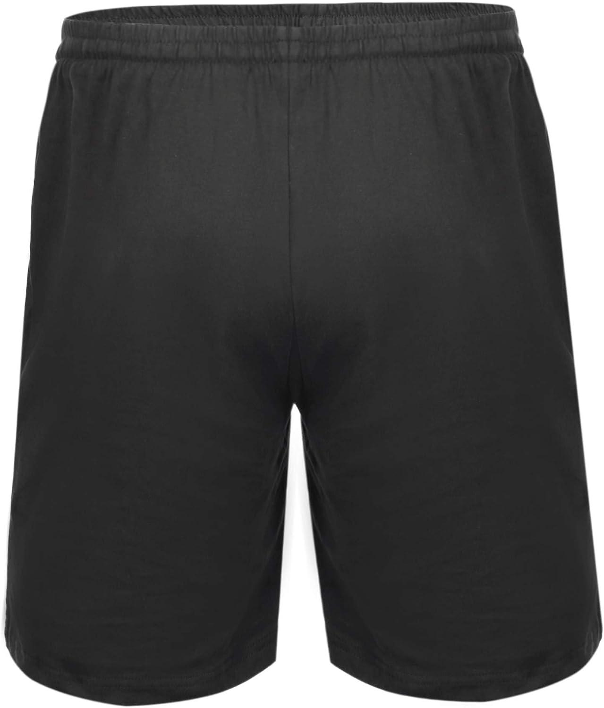 Aibrou Pantalon Pijama Corto Hombre Sal/ón Pantalones Cortos El/ástico Verano de 100/% Algodon Pack 1/&2