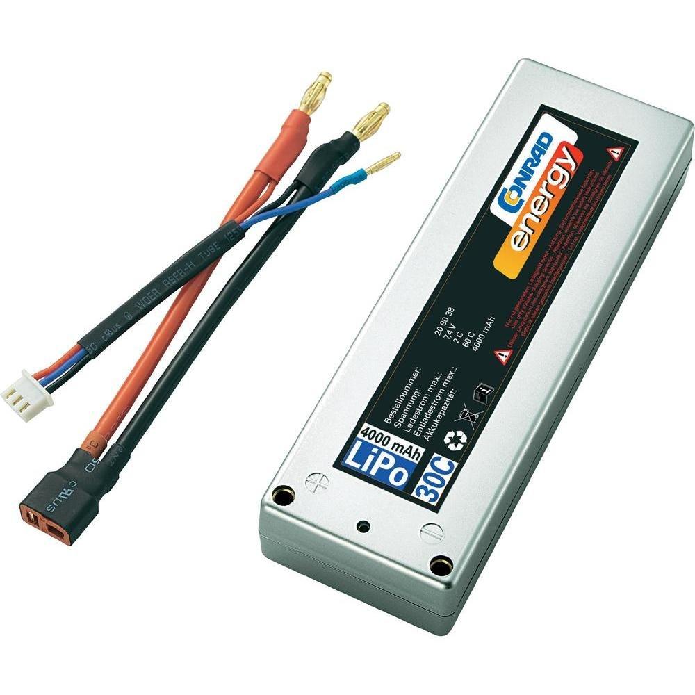 alta calidad Conrad 209038 batería batería batería reCochegable - Batería Pila reCochegable (polímero de litio, RC model, Plata)  tiendas minoristas