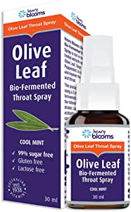 Henry Blooms Olive Leaf Bio-Fermented Throat Spray, 30ml
