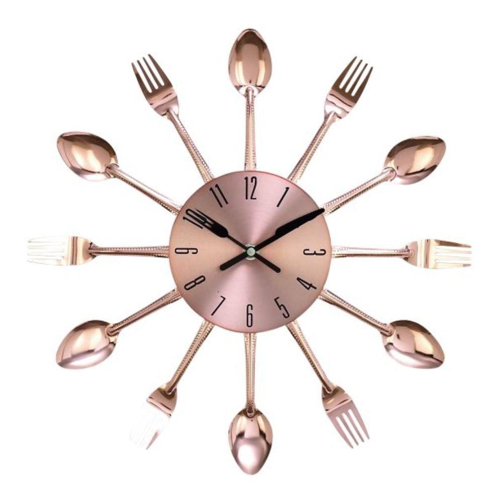 Amazon.com: Benzara 85522 Metal Copper Wall Clock, 15\