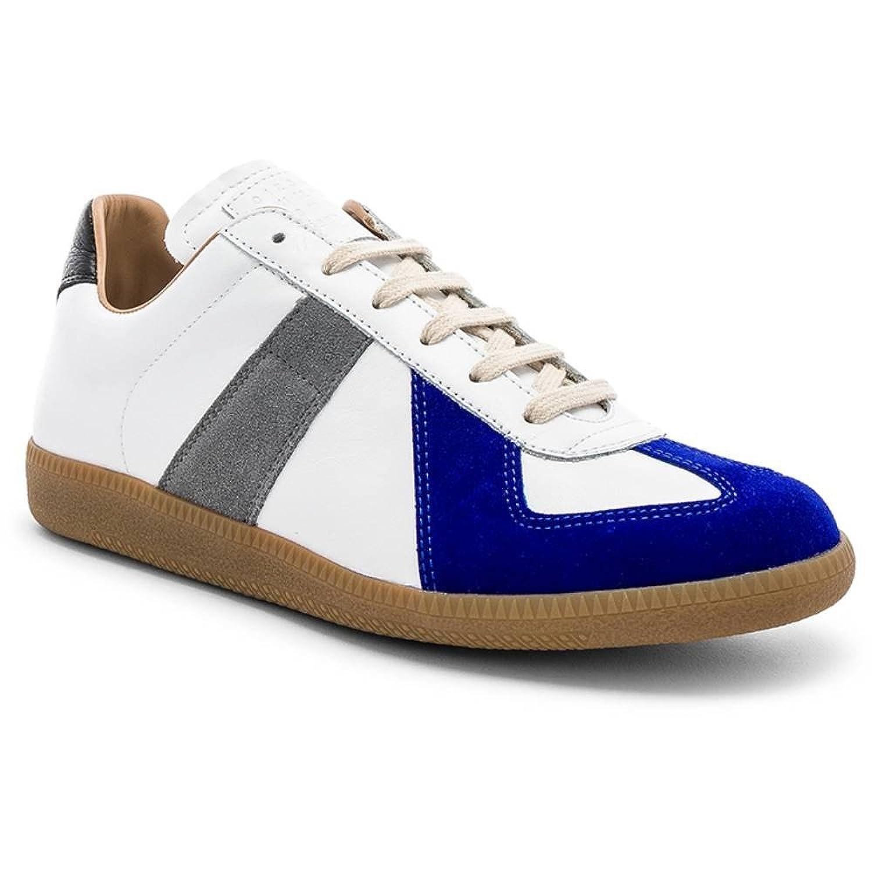 (メゾン マルジェラ) Maison Margiela メンズ シューズ靴 スニーカー Leather Replica Low Tops [並行輸入品] B07F7BV1TT