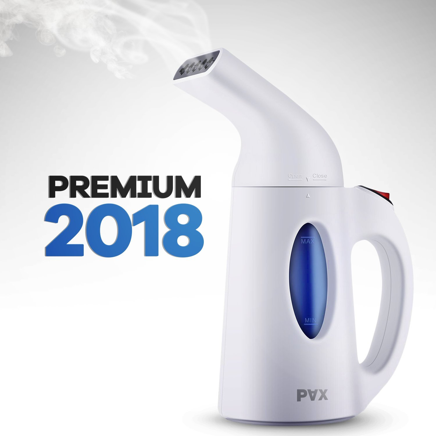 clothes steamer 2018 Powerful, Travel and Home Handheld Garment Steamer, 60 Seconds Heat-Up, Fabric Steamer With Automatic Shut-Off Safety Protection (PAX) H-106