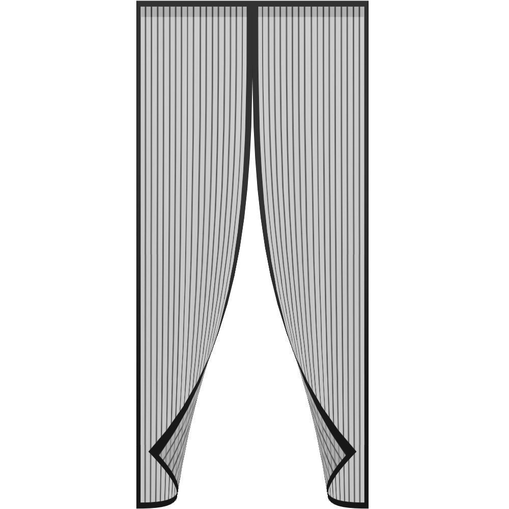 Magnetic Screen Door,Bluesim Screen Door Mesh Curtain with Full Frame Stickers, Fits Door Up To 34''x82'' , Keep Mosquitoes,Flies and Bugs Outside