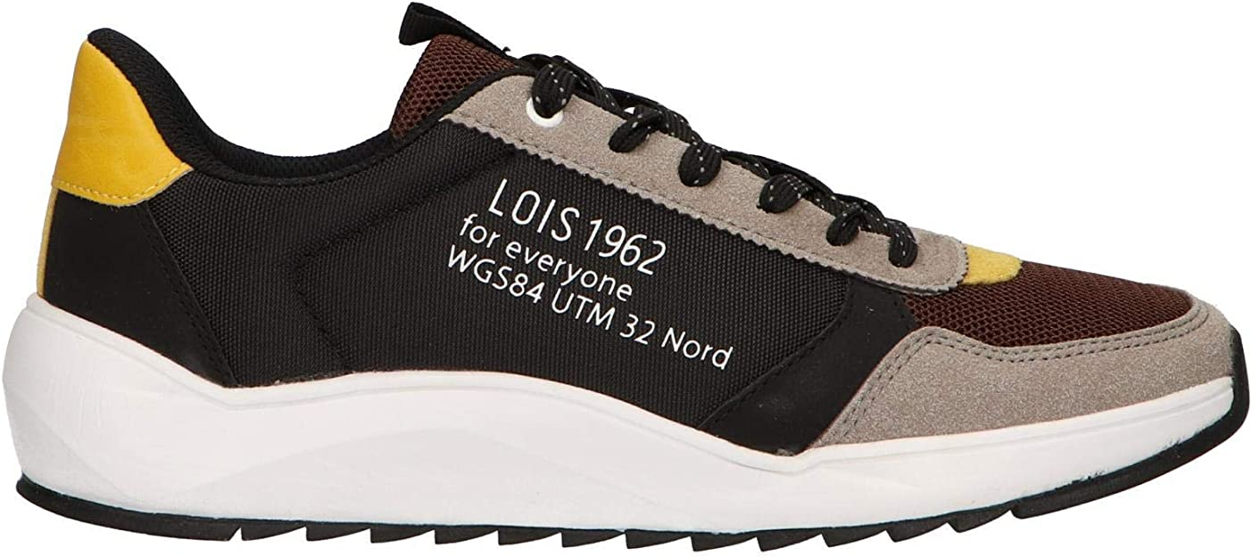 Zapatillas Deporte de Hombre LOIS JEANS 84884 26 Negro Talla 44: Amazon.es: Zapatos y complementos