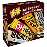 HERSHEY's Chocolate Candy Bar Assortment, 14 Count, 674 Gram