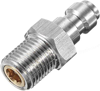 """High Pressure Steel Fitting 1//8/""""M x 1//8/""""M Hex Pipe Nipple Connector 5000 psi"""