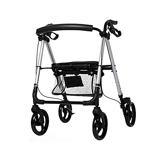 Andadores- Rollator de Aluminio con Cuatro Ruedas, Ayuda para ...