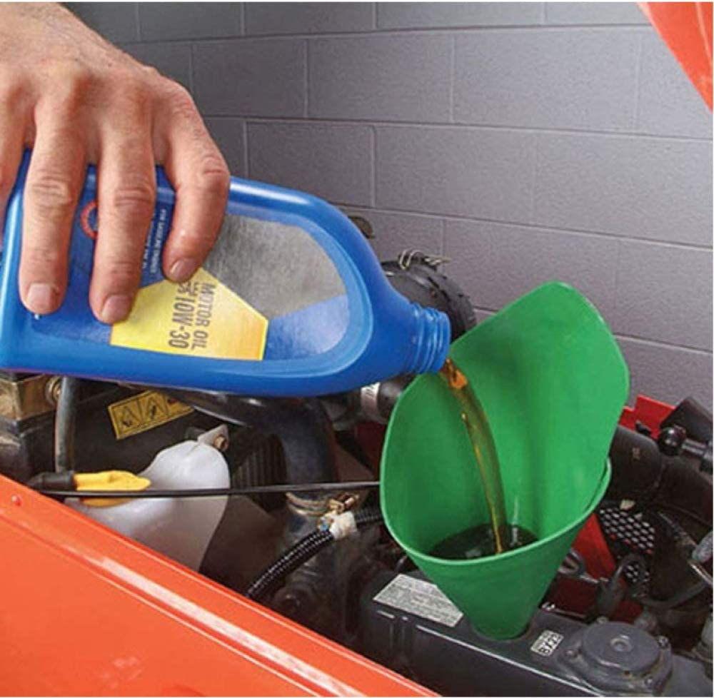 Used To Drain Oil From Cars YUYON Oil Deflector Funnel Trucks And Motorcycles,Blue-37x17cm Reusable//foldable Funnel Oil-free Filter