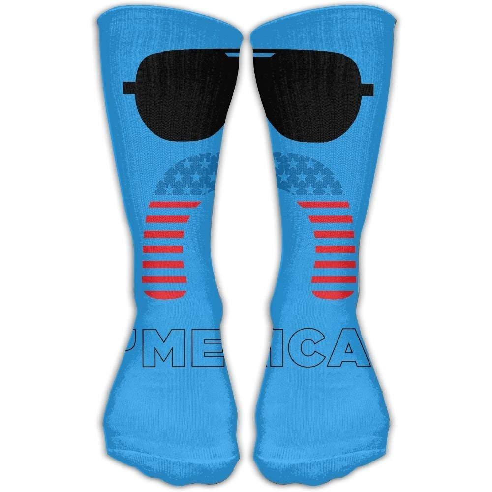Merica Unisex Performance Crew Socks Protect The Wrist For Cycling Moisture Control Elastic Socks