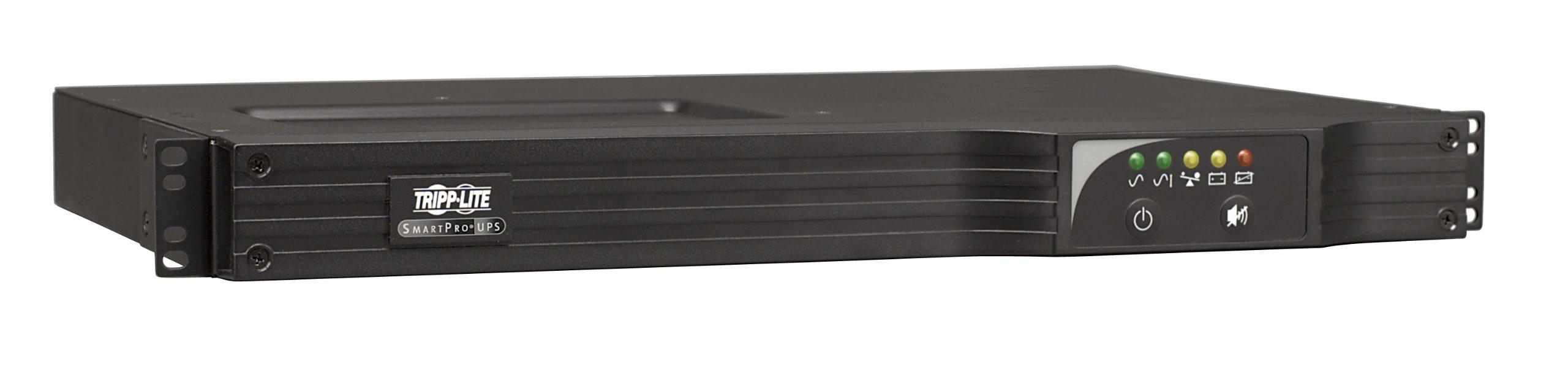 Tripp Lite 750VA Smart UPS Back Up, Sine Wave, AVR, 120V 600W Line-Interactive, 1U Rackmount, USB, DB9 Serial, 2 & 3 Year Warranties, $250,000 Insurance (SMART750RM1U) by Tripp Lite