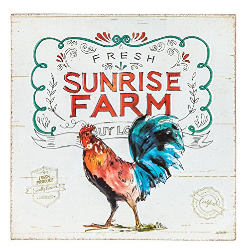 Sunrise Farm Metal Sign Wood Wall Decor