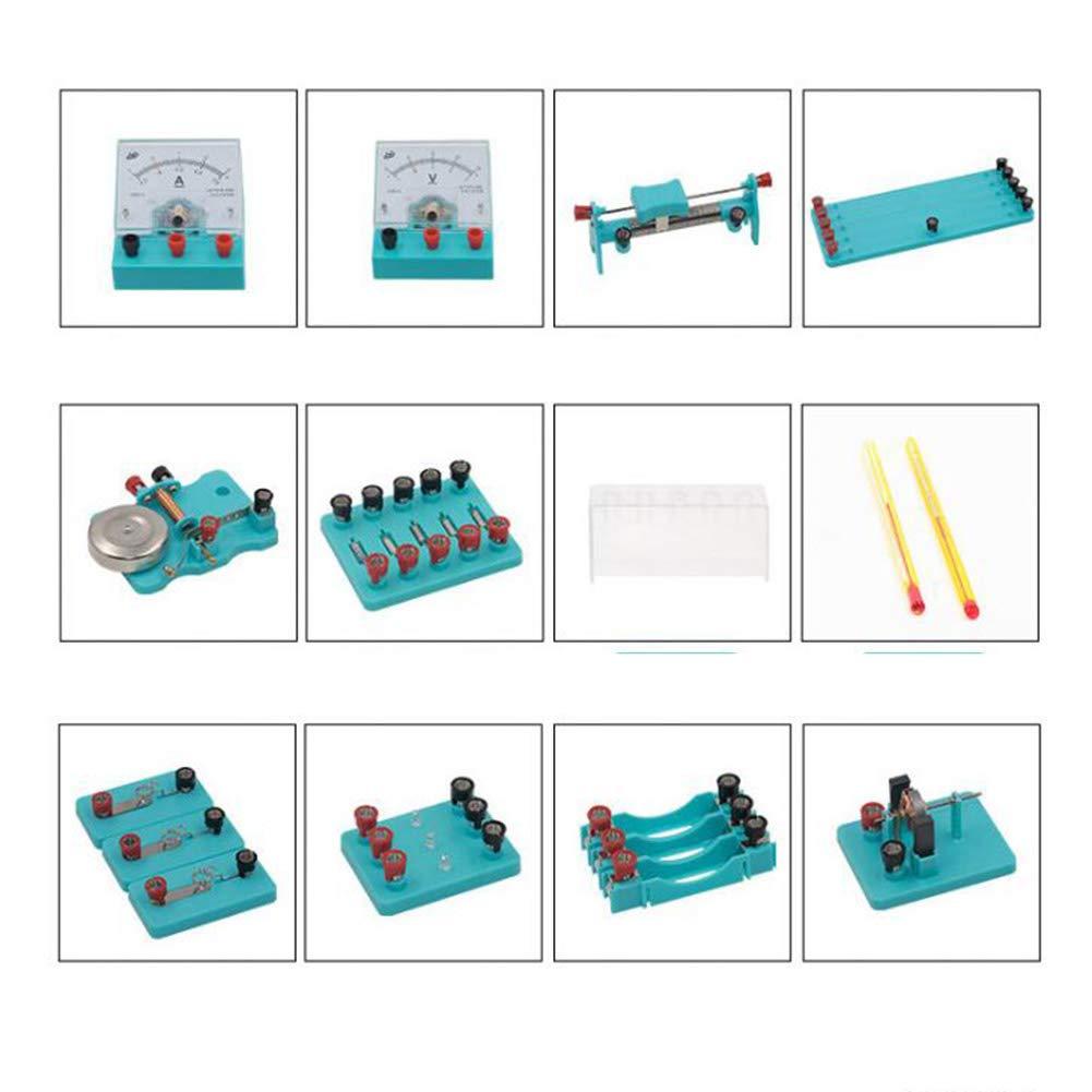 para Estudiantes En Grados Kit De Laboratorio Avanzado BIUYYY F/ísicas Conjunto De Experimentos De Electricidad Y Magnetismo Kit De Aprendizaje De Ciencias