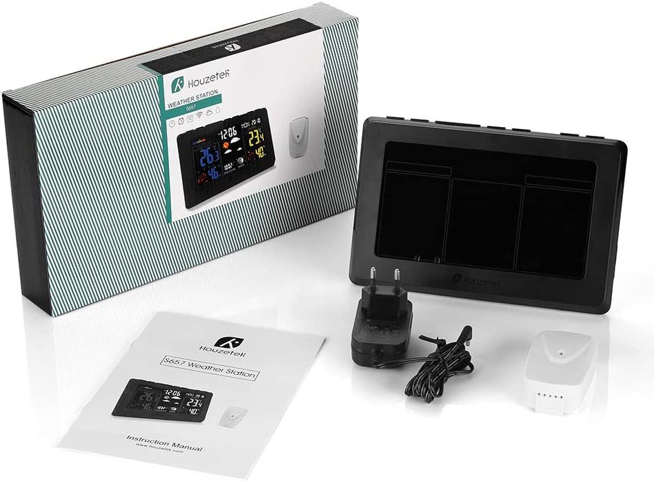 Houzetek S657 Color Weather Station Prévisions de