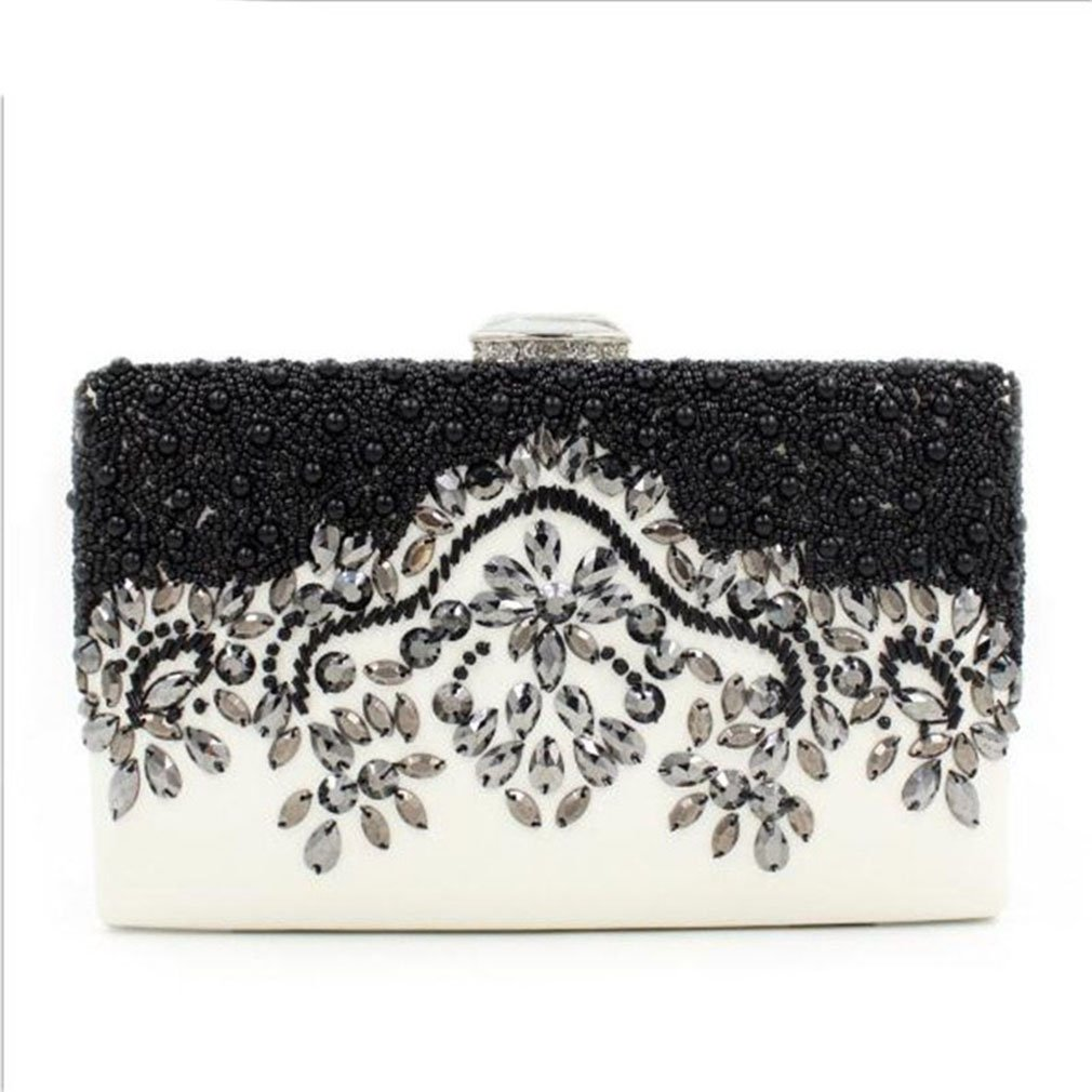 Women Evening Bag-Beaded Handmade Style Rhinestone Handbags Elegant Purse Bag