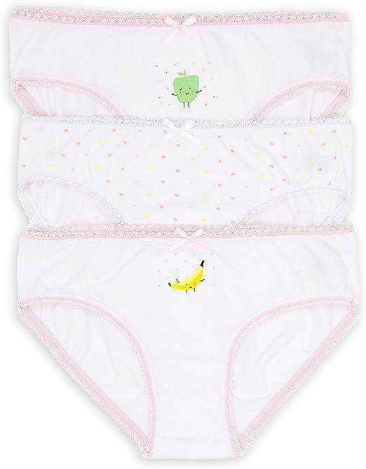 Channo Braga Infantil niña Dibujos Estampados. Tejido algodón Suave cómodo. Pack de 3 Braguitas: Amazon.es: Ropa y accesorios