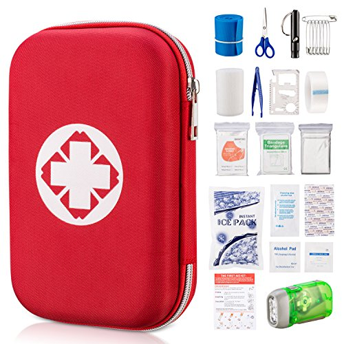 Soma First Aid Kit 19 in 1 Durable Nylon Survival Kit with Zipper for Emergency Home Outdoors Car Camping Hiking by Soma