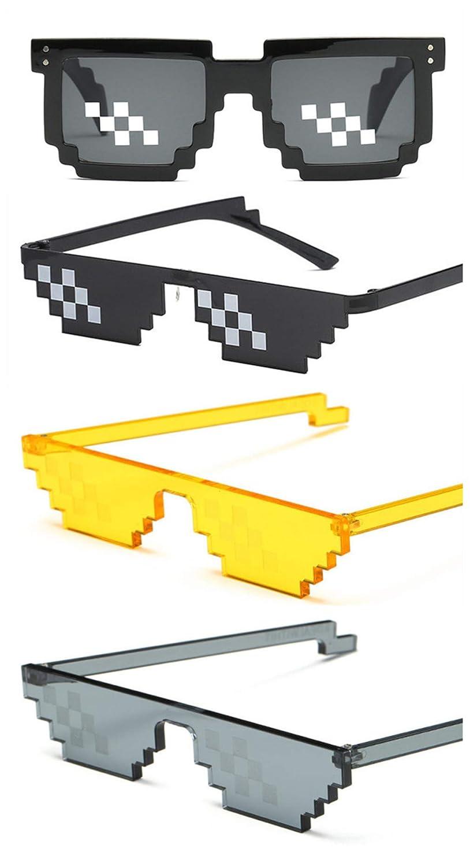 Humeng [Paquete de 4] Gafas de sol Thug Life Glasses-Party ...