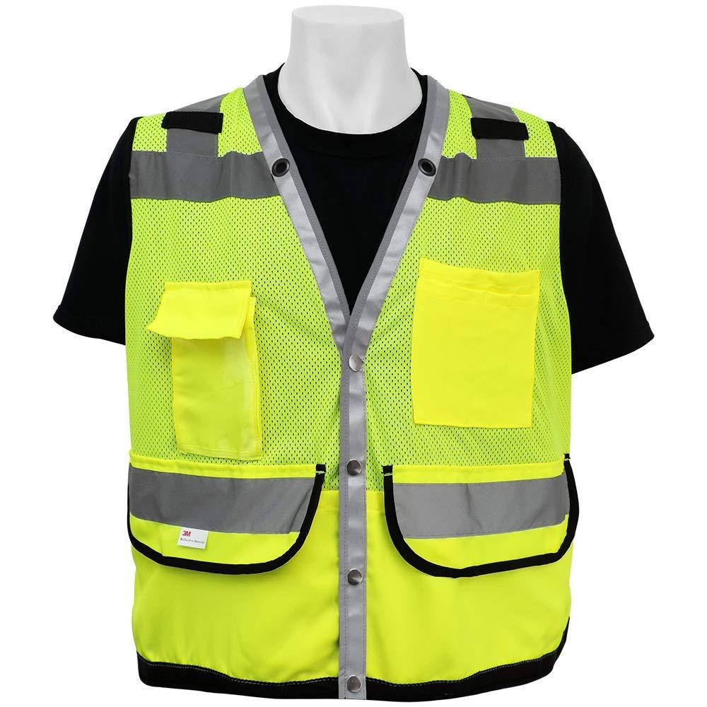 Small High-Visibility Mesh Polyester Surveyors Safety Vest FrogWear HV Global Glove GLO-079