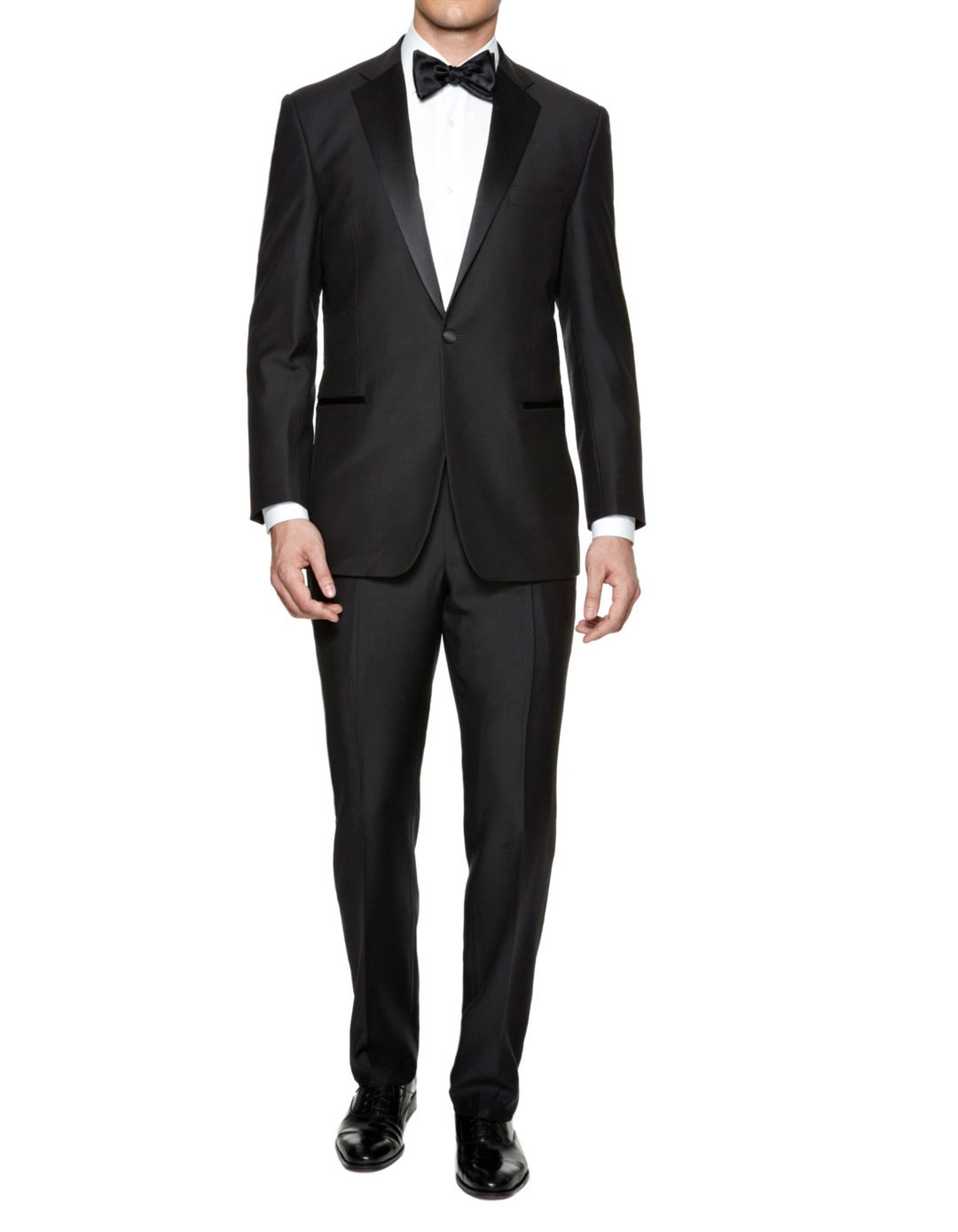 Braveman Mens Slim Fit Notched Lapel 2 Piece Tuxedo, Black, Size 34Sx28W