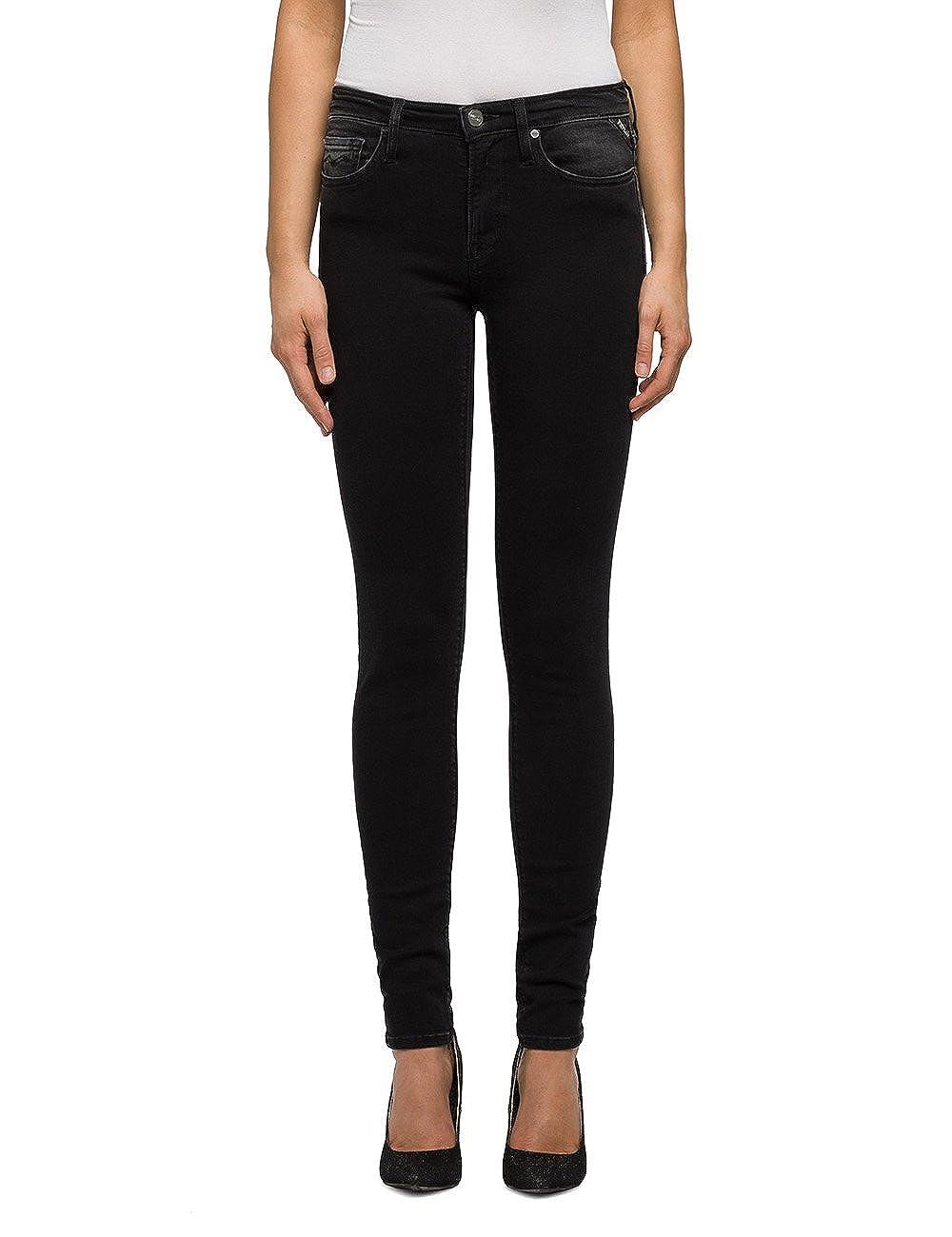 TALLA 29W / 32L. REPLAY Joi, Jeans Ajustados para Mujer