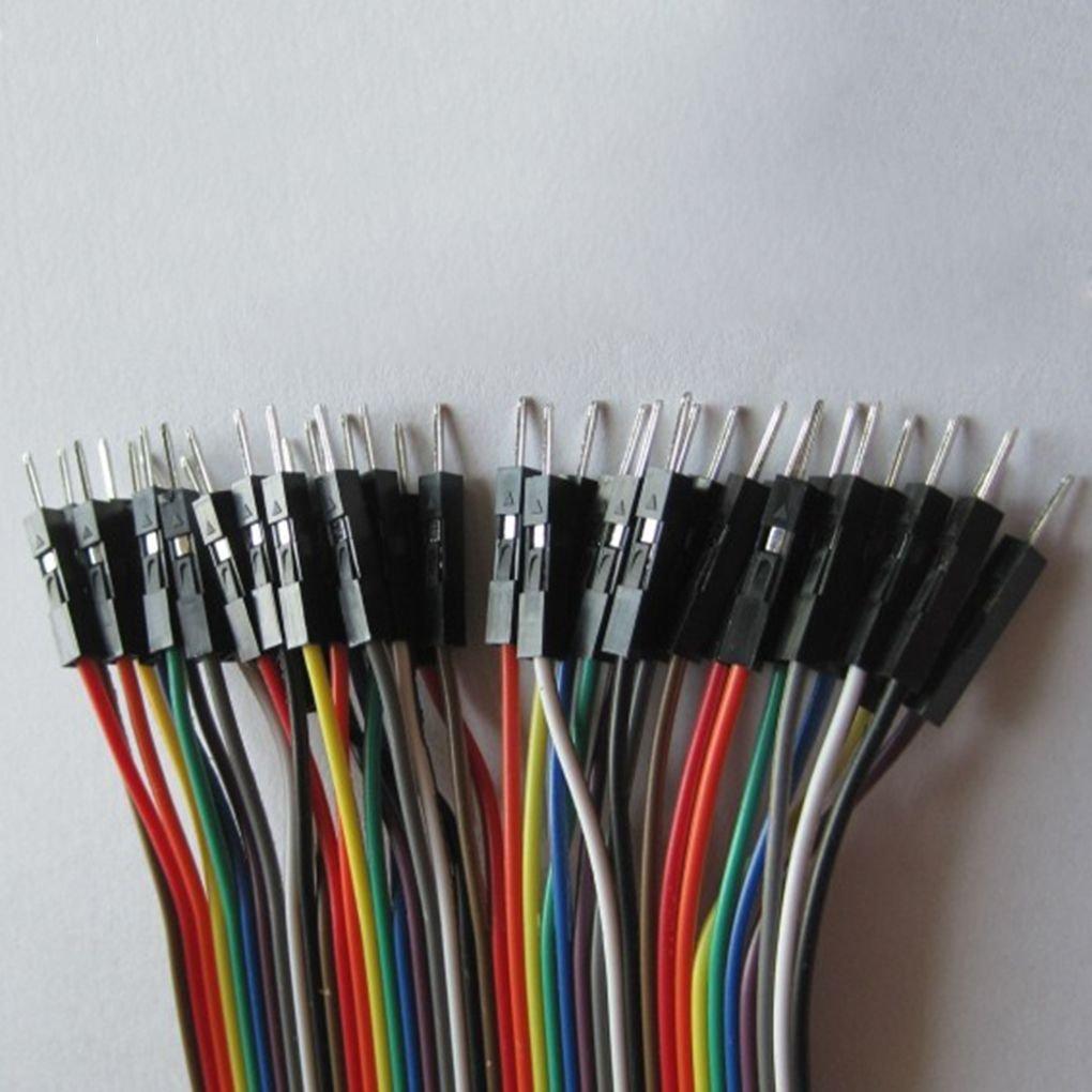 Kongnijiwa Module 1x 20cm m/ännlich zu weiblich Dupont Cable Jumper Wire f/ür Arduino Brotschneidebrett