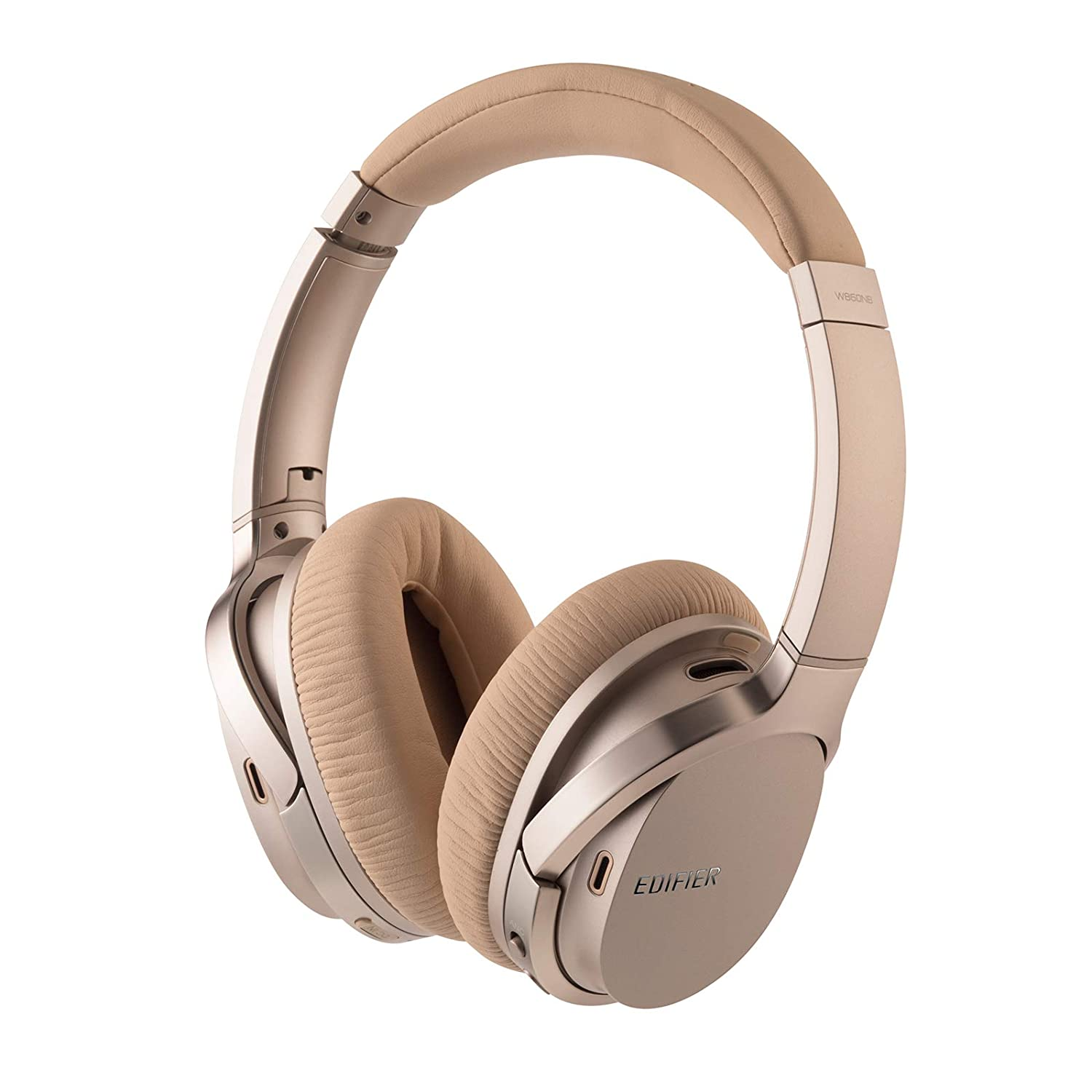 8377ee1111a Amazon.com: Edifier W860NB Active Noise Cancelling Over-Ear Bluetooth aptX  Headphones with Smart Touch - Gold: Home Audio & Theater
