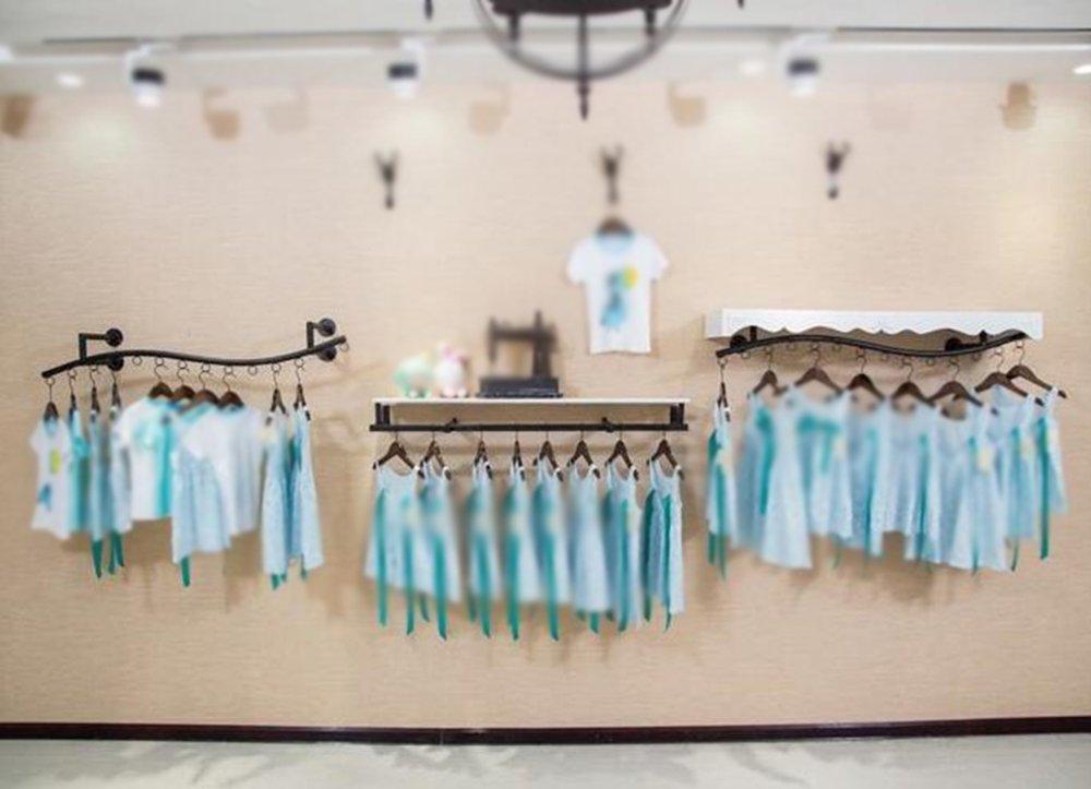 Clothing rack display rack / wall side shelf / children's clothing rack / clothing store hanger / womens clothing store rack / shelf / combination racks / length 120cm hanger by Hangers (Image #5)