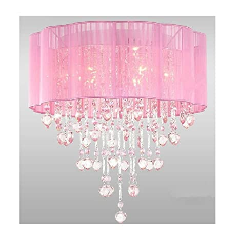 room chandelier girls decoration pink for