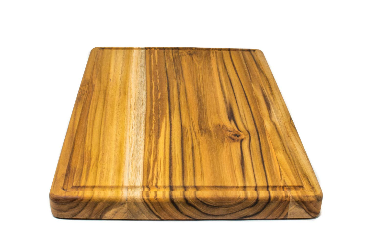 Large Reversible Teak Wood Cutting Board with Juice Groove - Hardwood Chopping Block and Serving Tray (17x11x1 Inches) by Do it wiser (Image #7)
