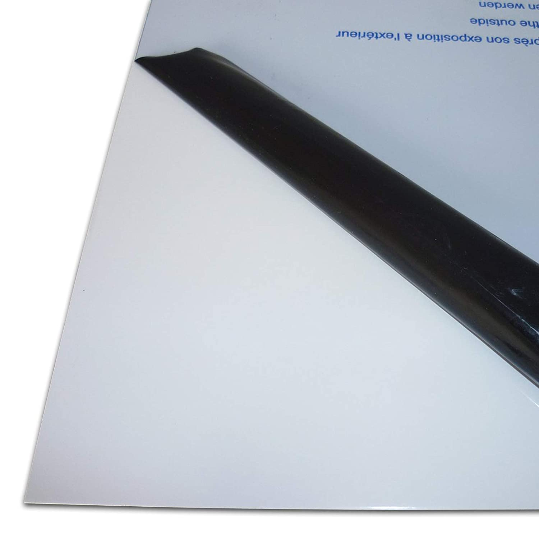 Wunschma/ß Zuschnitt bis Gr/ö/ße 50 x 90 cm UV-best/ändig beidseitig foliert 2,0 mm stark 500 x 900 mm B/&T Metall Acrylglas PMMA XT Platte transparent