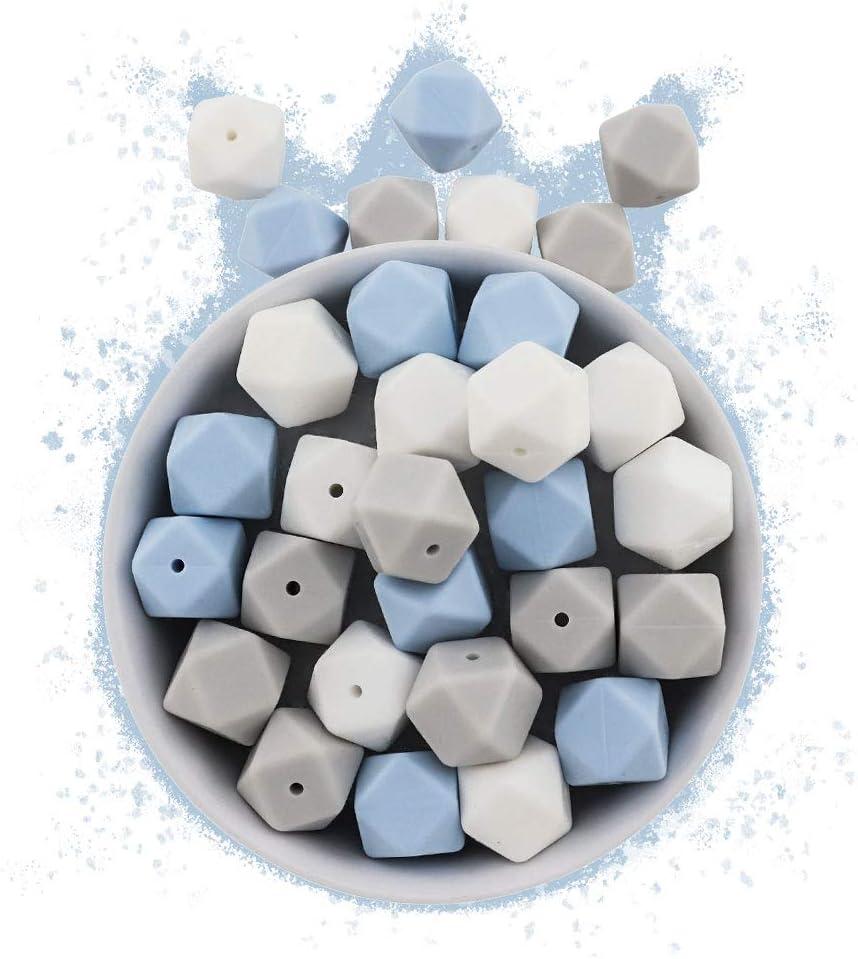 60 Cuentas de silicona piezas de silicona alimentaria para montar chupeteros//collares//mordedor lactancia colores combinados Bosque Encantado, Bolas /Ø12mm RUBY