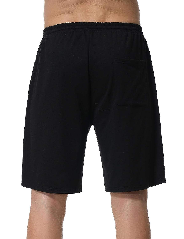 Abollria Herren Schlafanzughose Kurz Pyjamahose Bermuda Baumwolle Nachtw/äsche Sleep Hose Sporthose Freizeithose Remix Basic