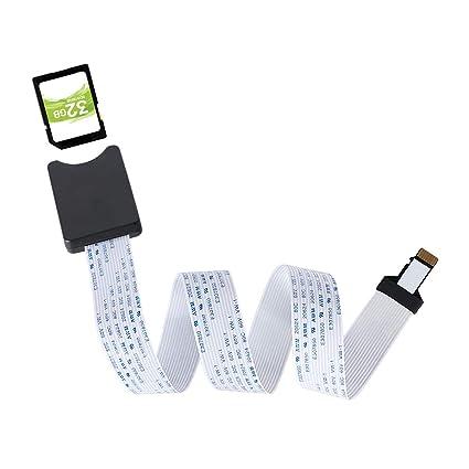 TF a la Tarjeta SD Cable de Extensión Adaptador de Tarjeta de Memoria Cable de Extensión para Mini Impresora 3D/GPS de Coche/Pantalla LCD Compatible ...