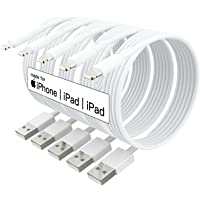 5 Pack (Apple MFi Certified) iPhone Charger 10 ft,Long Lightning Cable 10 Foot,High Fast 10 Feet Apple Charging Cables…